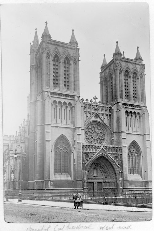 Bristol Cathedral, west end, c1895. Taken by John York. From an album passed to the Bristol Record Office. PD11012 © Bristol Culture