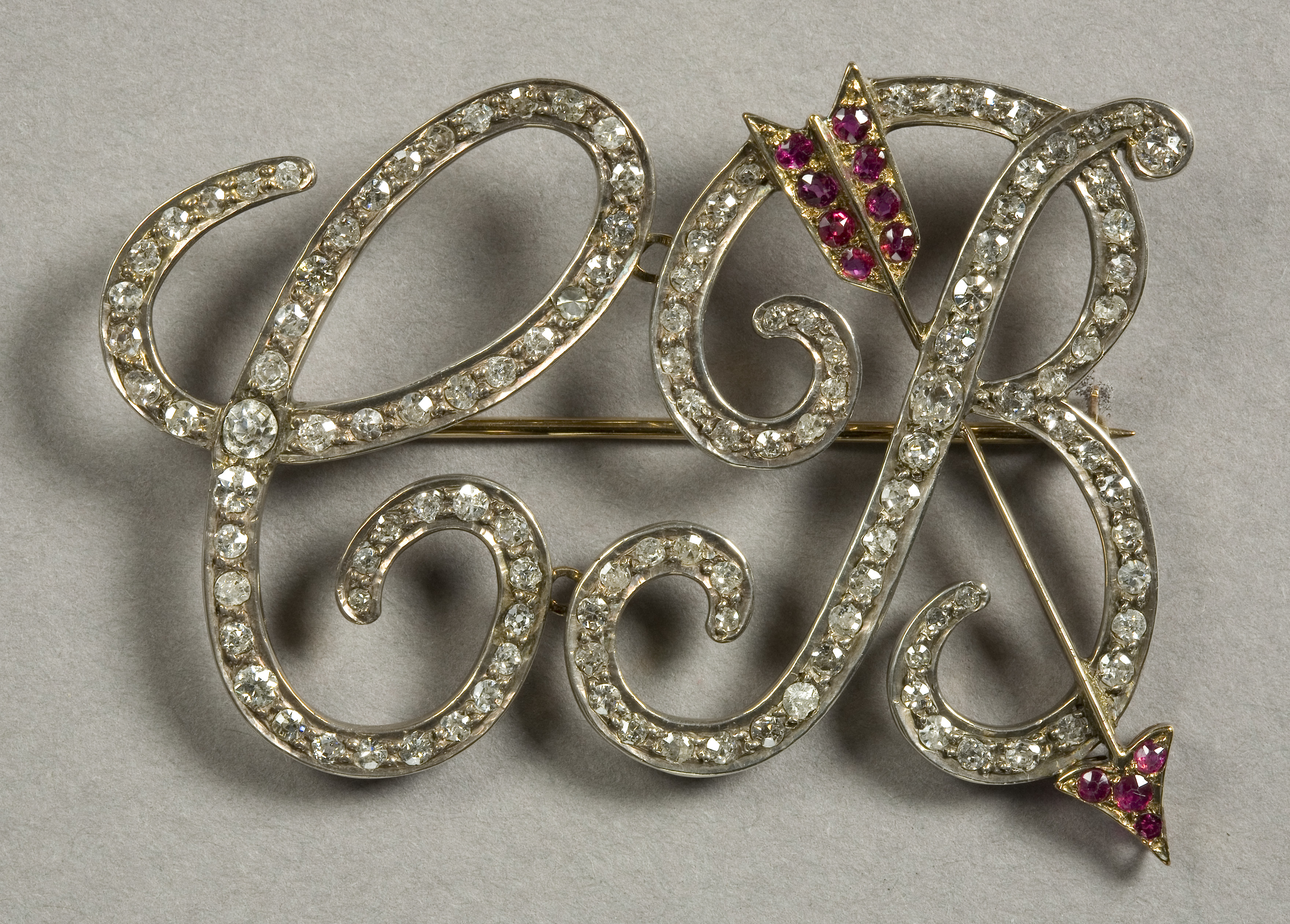 Image: Marking the moment: Diamond and ruby brooch with the initials CB for Clara Butt N8169 © Bristol Museums, Galleries & Archives
