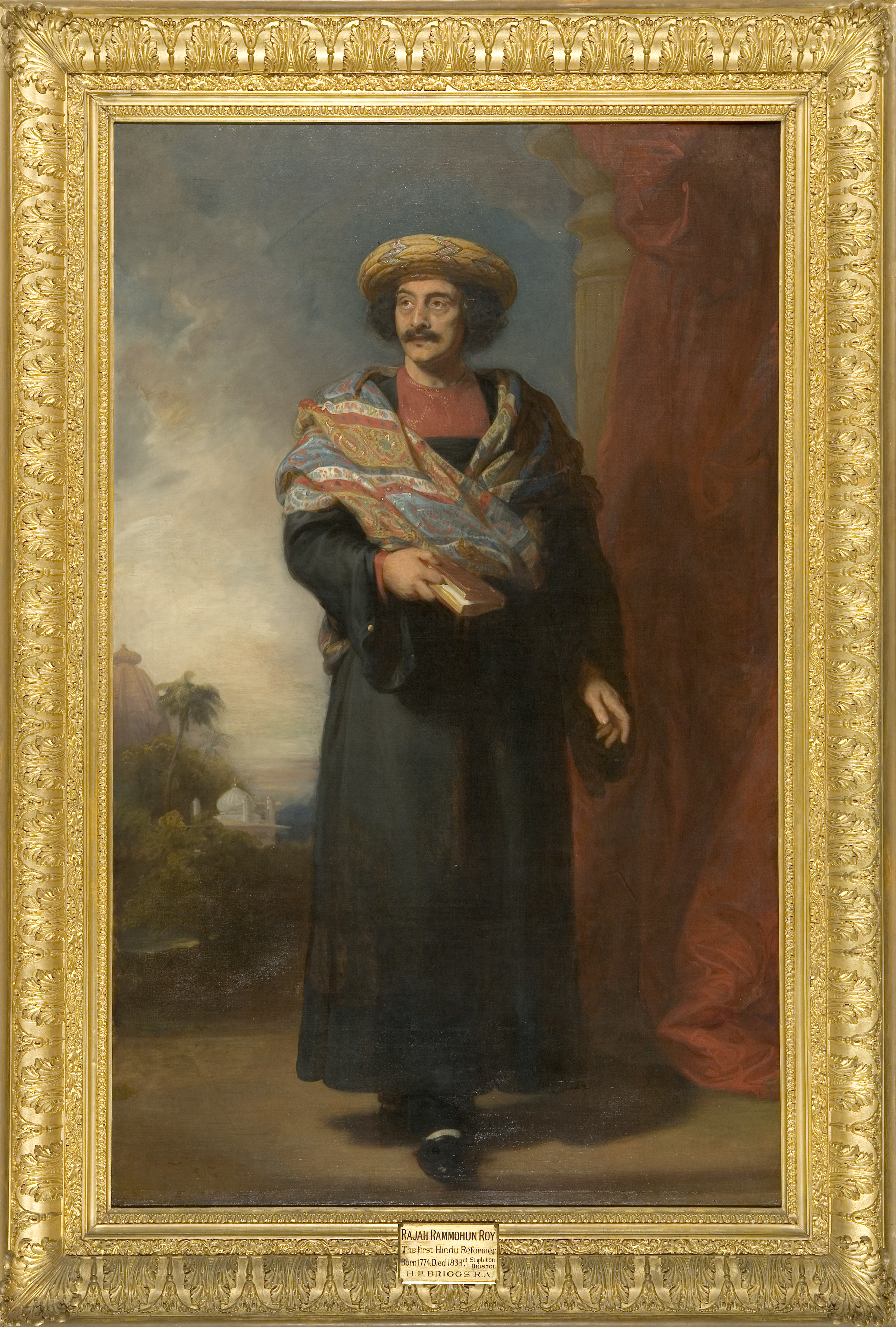 Image: Marking the moment: Portrait of Raja Ram Mohan Roy by Henry Briggs, about 1832, K13 © Bristol museums, Galleries & Archives