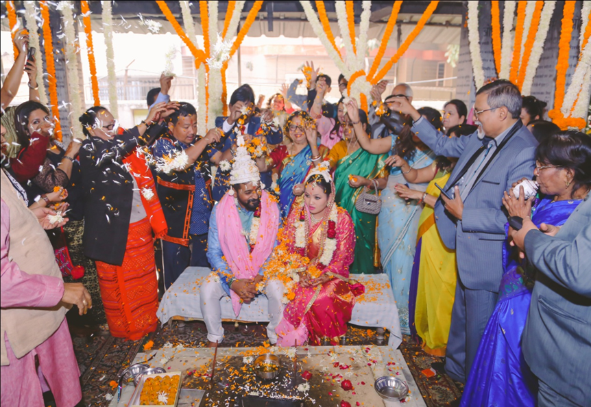 Image: Marking the moment: Marriage ceremony of Rige Shiba (ITP 2013, India) and Anjan Dey (ITP 2010, India)